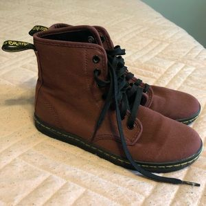 Maroon Dr. Martens shoes